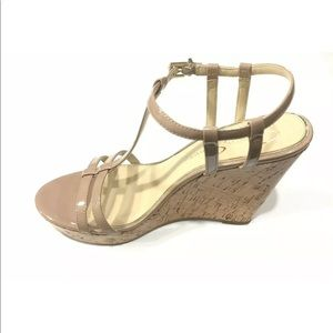 Jessica Simpson Cork Open Toe Jardina Wedge Heels